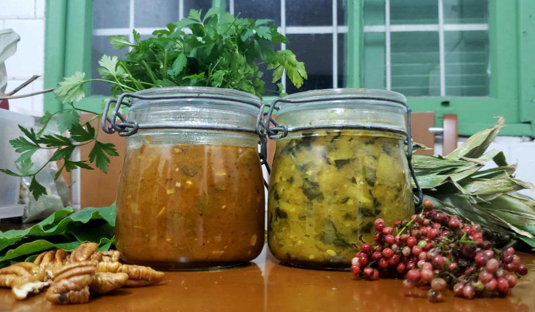 Uma porção de comida | lembretes culinários sobre chutney